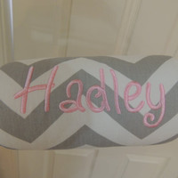 Car seat handle cover, gray chevron Padded Handle Cover , Personalized Chevron padded handle cover