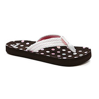 Reef Girls' Ahi Dotted Sandals - Brown/White