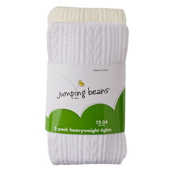 Jumping Beans 2-pk. Cable-Knit Tights - Toddler Girl, Size: 2T-4T (White)