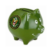 US Army Polyresin Piggy Bank