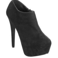 Solid Platform Bootie | Shop Shoes at Wet Seal