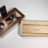 ThePort Wood iPhone 5 Charging, Docking Station, and Catch-All Organizer
