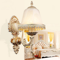 Continental Wall Lamp Bedroom Bedside Lamp Wall Sconce Hotel Zinc Alloy Balcony Sconce Indoor European Single Head Waro Lighting