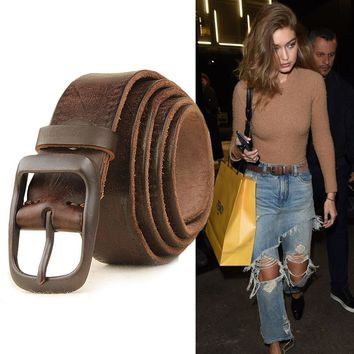 Retro Handmade Leather Belt [2974244980]