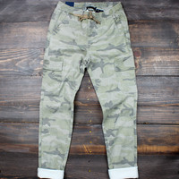 army green denim camo joggers
