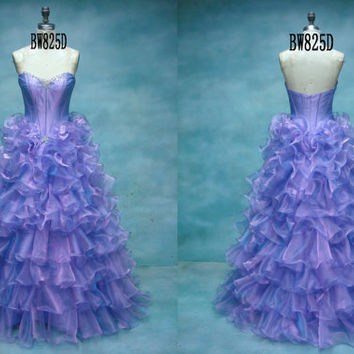 Custom Made Sweetheart Organza Quinceanera Dress,Ball Gown,Formal Gown,Prom Dress