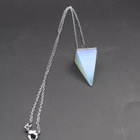 Opal quartz healing stone necklace