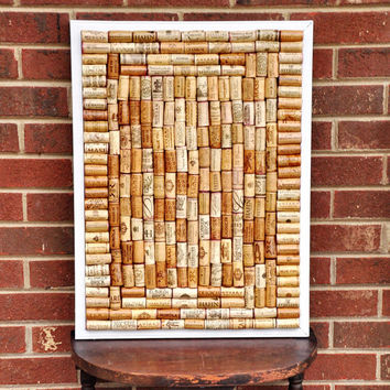 "UNCORK & UNWIND!! Large Wine Cork Message Board 24"" X 18"" Great Gift for Weddings, Anniversary, Housewarming, or Birthdays!!"