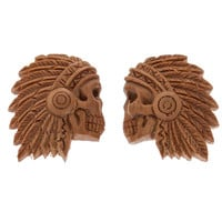 Chief Carved Saba Wood Plugs (5mm-26mm)
