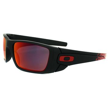 Oakley Sunglasses Fuel Cell OO9096-A8 Matt Black Ruby Iridium