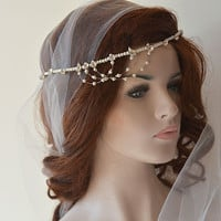 Wedding Pearl Headband, Wedding Hair Accessories, Bridal Headband, Bridal Hair Accessories, Bridal Vintage İnspired Headpiece