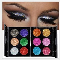 6 Colors Pressed Glitter Eyeshadow Palette