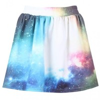 """Sky & Galaxy"" Pleated Skirt$28"