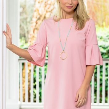 Pretty And Proper Dress in Pink | Monday Dress Boutique