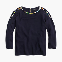 J.Crew Womens Jeweled Crewneck Sweater