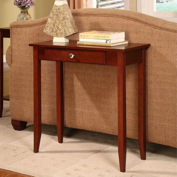 Rosewood 1 Drawer Accent Piece Console Table
