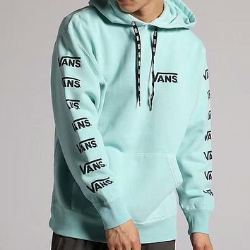 VANS 2018 new armband stringed Slim hooded pullover sweater F-AA-XDD Green