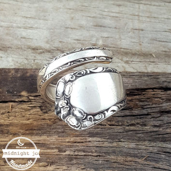 Rosemary Easterling Sterling Silver Wrapped Spoon Ring