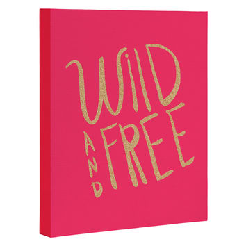 Allyson Johnson Wild and free glitter Art Canvas