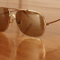nEw oLd stoCk VinTAGe 8o'S REaL gLaSs AviAToR SunGLAssES by etlala