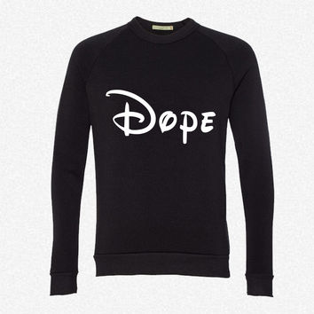 Dope (2) fleece crewneck sweatshirt