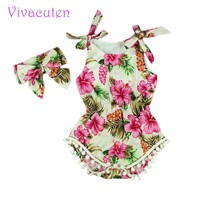 New 2016 Summer Baby vintage floral Romper Baby Girl Romper Toddler cotton  Rompers Baby Jumpsuit Infant Newborn Baby Clothes