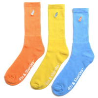 Basics 3-Pack Socks Pastel Orange / Yellow / Blue