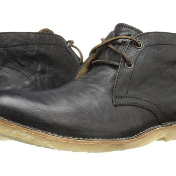 FRYE Hudson Chukka Black Leather Boots