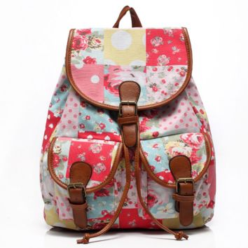 Cute Sweet Travelling Bag School Bag Canvas Casual Backpack Daypack