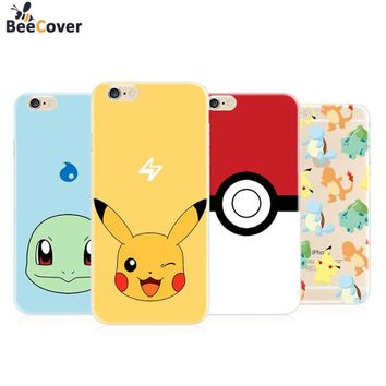 BeeCover For iPhone 6 7 8 Phone Case Pokemons Go Soft Silicon TPU Funda Cover for Apple iPhone 6 6plus 5S SE 7 7plus Cases Coque