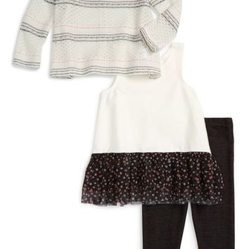 Pippa & Julie Sweater, Peplum Tank & Leggings Set (Toddler Girls & Little Girls) | Nordstrom
