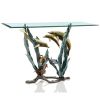 SPI Home Collection - Dolphin and Sea Life Console Table