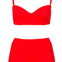 Red Longline Bikini - Swimwear  - Clothing  - Topshop USA