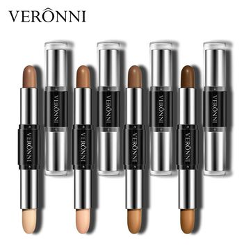 VERONNI Brand Contouring Waterproof Makeup Long Lasting Dark Skin Double-ended Face Contour Bronzer Highlighter Make Up Stick