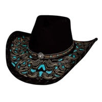 "Bullhide Hats ""Taking my Chances"" Shapeable Premium Wool Cowboy Hat"