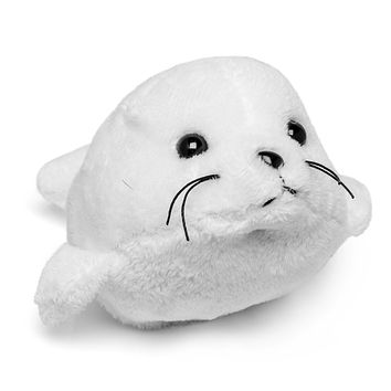 "Single Harp Seal Mini 4"" Small Stuffed Animal, Ocean Animal Toy, Sea Party Favor for Kids"