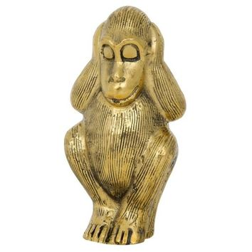 Hear Nothing Monkey, C, Brass