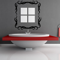 Vinyl Wall Decal Sticker Tribal Frame #OS_MB952
