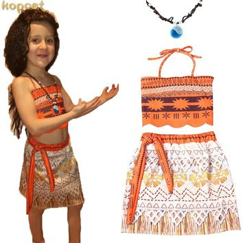 Moana Dress Top and Necklace