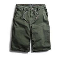 Drawstring Waist Zip Fly Shorts
