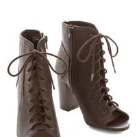 ModCloth Urban Coffee Bar Bootie