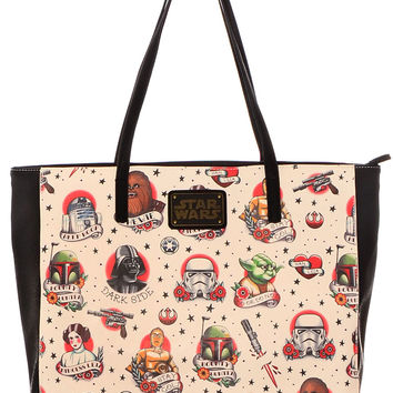 Star Wars Retro Tattoos Tote Bag
