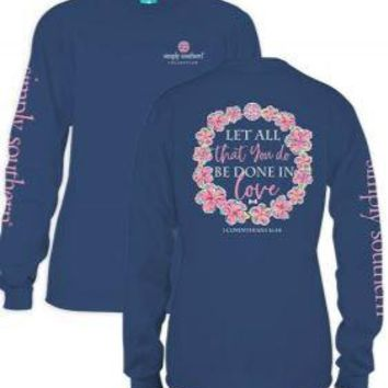 *Closeout* Simply Southern Long Sleeve Tees- LET ALL XL