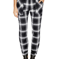Slim Plaid Utility Pant by Free People at Gilt