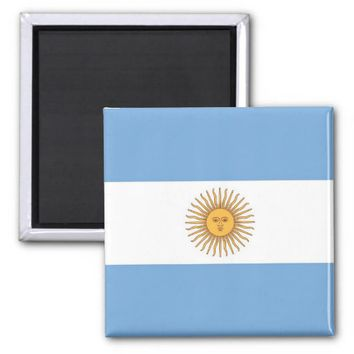 Magnet with Flag of Argentina