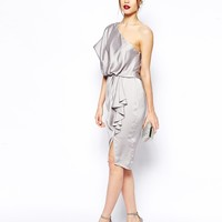 ASOS One Shoulder Drape Dress