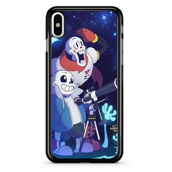 Undertale - Sans And Papyrus Waterfall iPhone X Case