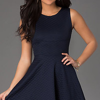 Short Sleeveless Scoop Neck A-Line Dress