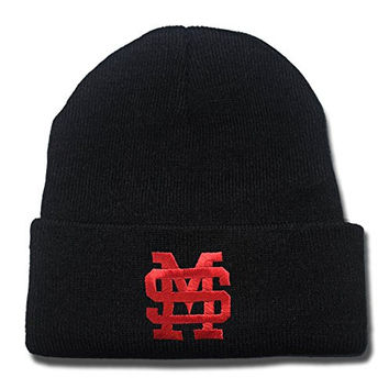 JIAQ Mississippi State Bulldogs Beanie Embroideryies Knitted Hats Caps