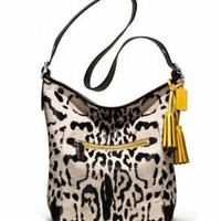 Coach Legacy Ocelot Haircalf Large Duffle Shoulder Bag